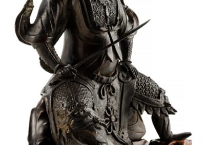 Large Black Lacquered Bronze Figure Guandi 21 (2)