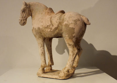 Painted Red Pottery Saddled Horse (3)