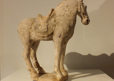 Painted Red Pottery Saddled Horse (5)