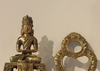 Gilt Bronze Figure of Amitayus (11)