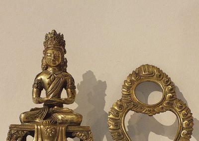 Gilt Bronze Figure of Amitayus (11)