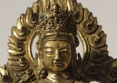Gilt Bronze Figure of Amitayus (9)