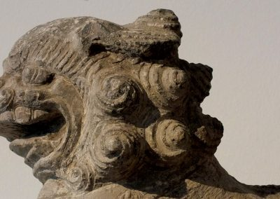 Large Gray Stone Seated Lion (11)