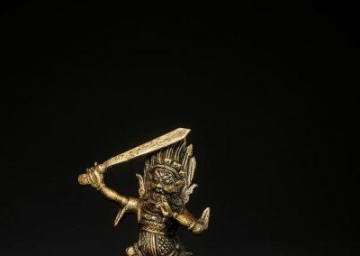 Tibeto Chinese Bronze Figure Begtse (1)