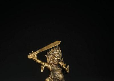 Tibeto Chinese Bronze Figure Begtse (2)