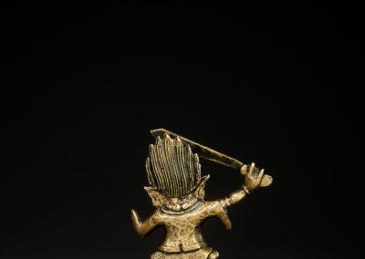 Tibeto Chinese Bronze Figure Begtse (3)