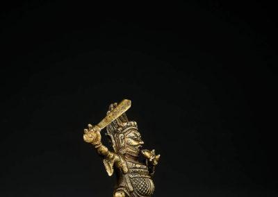 Tibeto Chinese Bronze Figure Begtse (4)