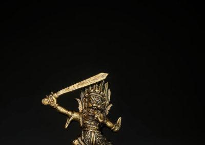 Tibeto Chinese Bronze Figure Begtse (6)