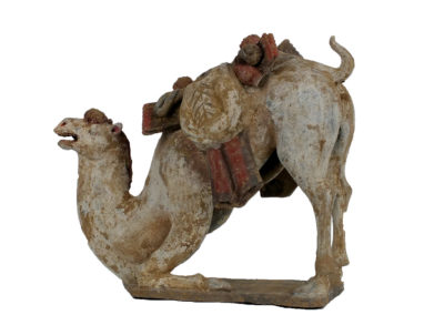 Large Tang Dynasty Crouching Bactrian Camel (1)
