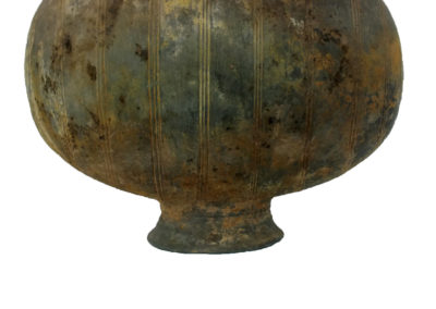 Large Grey Pottery Cocoon Vase (3)