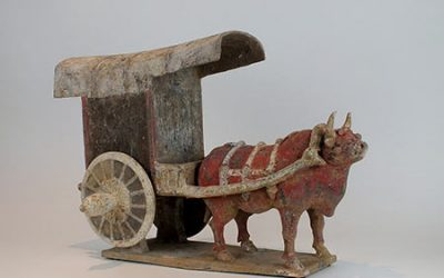 Chinese Ox Cart Diorama