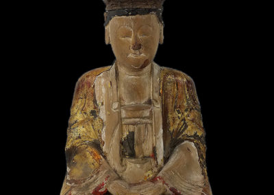 Ming Dynasty Giltwood Guanyin (1)