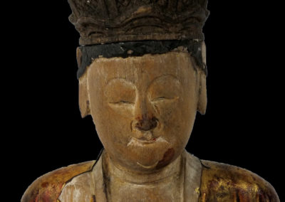 Ming Dynasty Giltwood Guanyin (12)