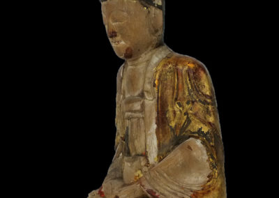 Ming Dynasty Giltwood Guanyin (14)