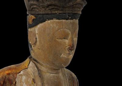 Ming Dynasty Giltwood Guanyin (8)