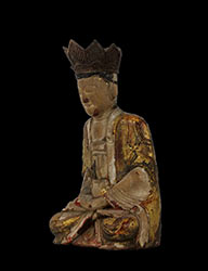Ming Dynasty Giltwood Guanyin