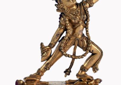 Sino Tibetan Gilt Bronze Dakini (1)