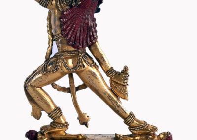 Sino Tibetan Gilt Bronze Dakini (2)