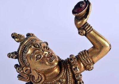 Sino Tibetan Gilt Bronze Dakini (4)