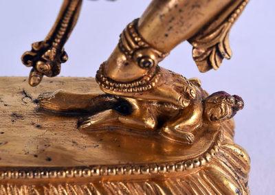 Sino Tibetan Gilt Bronze Dakini (5)