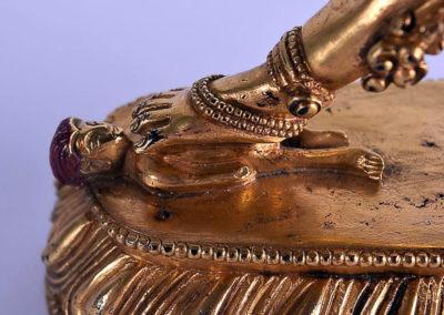 Sino Tibetan Gilt Bronze Dakini (6)