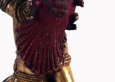 Sino Tibetan Gilt Bronze Dakini (7)