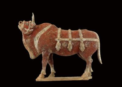 Large Impressive Pottery Ox (1)
