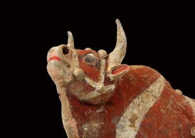 Large Impressive Pottery Ox (13)