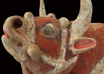 Large Impressive Pottery Ox (16)
