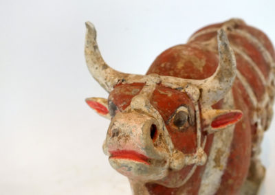 Large Impressive Pottery Ox (17)