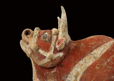 Large Impressive Pottery Ox (5)