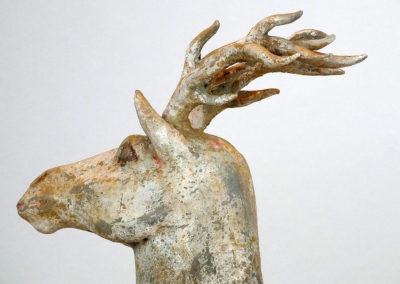 Painted Grey Pottery Deer (10)