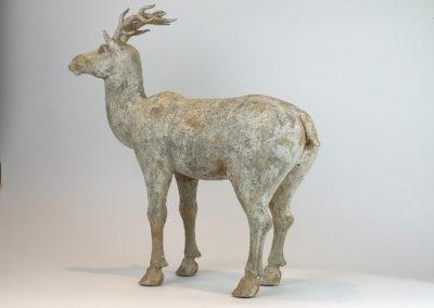Painted Grey Pottery Deer (11)