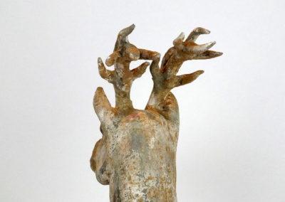 Painted Grey Pottery Deer (14)