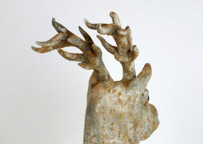 Painted Grey Pottery Deer (15)