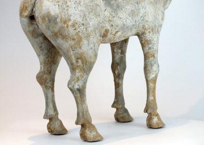 Painted Grey Pottery Deer (16)