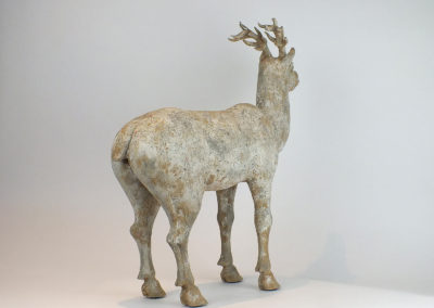 Painted Grey Pottery Deer (17)