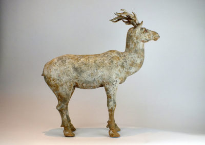 Painted Grey Pottery Deer (18)
