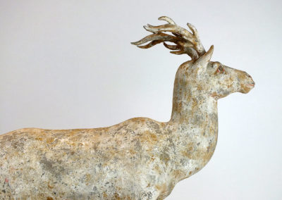 Painted Grey Pottery Deer (19)