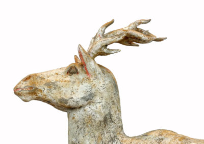 Painted Grey Pottery Deer (2)