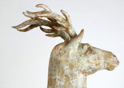 Painted Grey Pottery Deer (20)