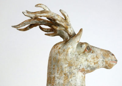 Painted Grey Pottery Deer (20)