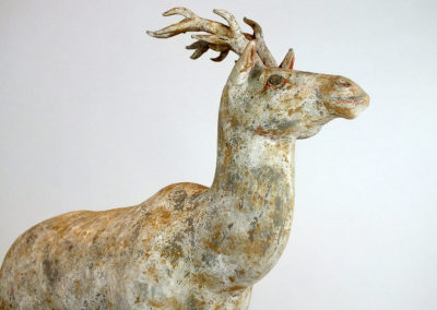 Painted Grey Pottery Deer (23)