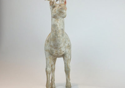 Painted Grey Pottery Deer (25)