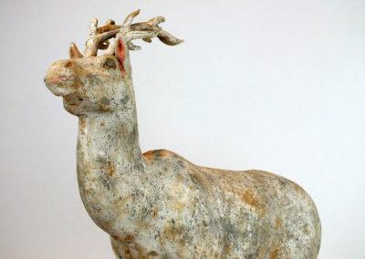 Painted Grey Pottery Deer (27)