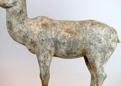 Painted Grey Pottery Deer (3)