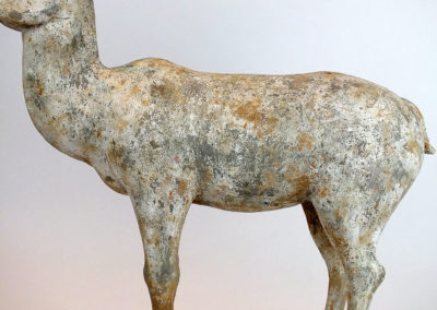 Painted Grey Pottery Deer (3)