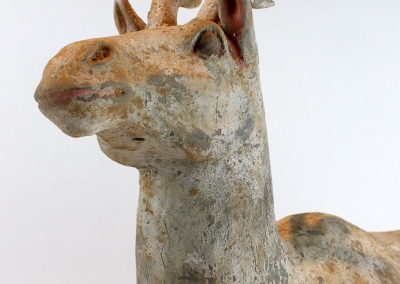 Painted Grey Pottery Deer (32)
