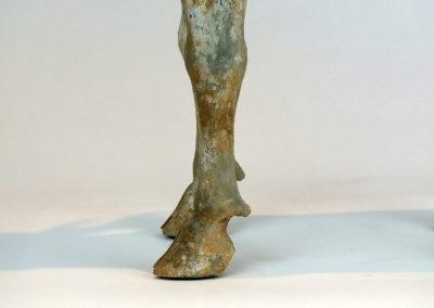 Painted Grey Pottery Deer (6)