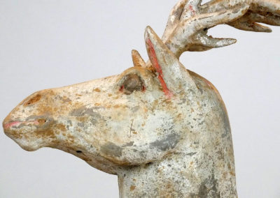 Painted Grey Pottery Deer (7)